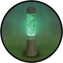Licht decoratie - glitter lamp 33 cm, veranderende kleur