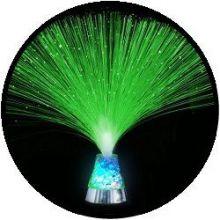Licht decoratie - glasvezel lamp met ijskristallen basis