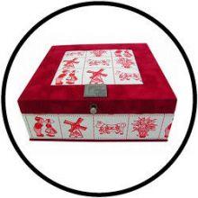 Theedoos maken Delfts Rood