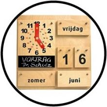 Kalender met klok