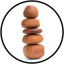 Stapelspel houten keien