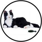 Knuffeldieren - Interactieve robot Kat - Zwart Wit