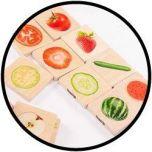 Houten Memo - Welke groente en fruit horen bij elkaar