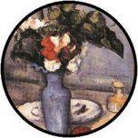 Cezanne Flowers in Blue Vase puzzel